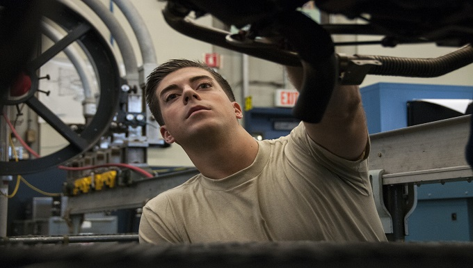 104th maintenance squadron engine mechanic, UMASS student, returns home from deployment with valuable experience